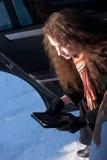 зима автомобиля нервного расстройства Стоковая Фотография RF