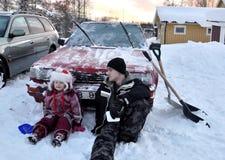 зима автомобиля Стоковая Фотография