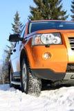 зима автошин снежка автомобиля Стоковые Фото