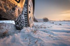 зима автошин снежка Стоковые Изображения RF