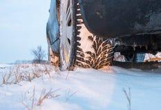 зима автошин снежка Стоковое Фото