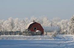 зима амбара Стоковое Изображение