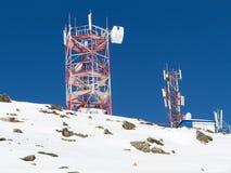 Зима антенн связи Стоковые Изображения RF