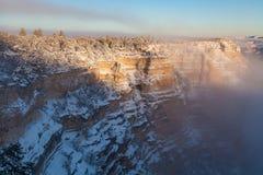 зима ландшафта каньона грандиозная Стоковые Изображения