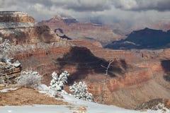 зима ландшафта каньона грандиозная Стоковая Фотография
