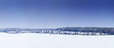 зима ландшафта панорамная Стоковые Изображения