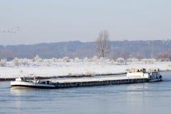 Зима баржи Стоковые Изображения RF