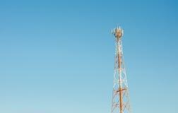 зима башни радиосвязи ночи moscow dmitrov города зоны Стоковая Фотография