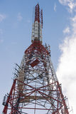 зима башни радиосвязи ночи moscow dmitrov города зоны Стоковые Изображения RF