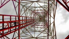 зима башни радиосвязи ночи moscow dmitrov города зоны Стоковое фото RF