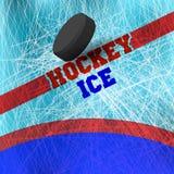 зима белизны снежинок предпосылки голубая Вектор предпосылки льда с метками от кататься на коньках и хоккея Стоковое Фото