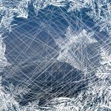 зима белизны снежинок предпосылки голубая Вектор предпосылки льда с метками от кататься на коньках и хоккея Стоковая Фотография