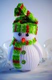 зима белизны снеговика snowball настроения предпосылки красивейшая Стоковые Изображения
