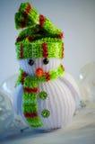 зима белизны снеговика snowball настроения предпосылки красивейшая Стоковое фото RF