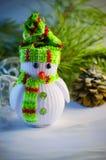зима белизны снеговика snowball настроения предпосылки красивейшая Стоковая Фотография