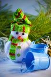 зима белизны снеговика snowball настроения предпосылки красивейшая Стоковая Фотография RF