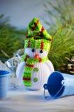 зима белизны снеговика snowball настроения предпосылки красивейшая Стоковое Фото