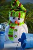 зима белизны снеговика snowball настроения предпосылки красивейшая Стоковое Изображение