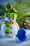 зима белизны снеговика snowball настроения предпосылки красивейшая Стоковые Фото