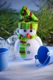 зима белизны снеговика snowball настроения предпосылки красивейшая Стоковые Фотографии RF