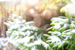 зима белизны снежинок предпосылки голубая Стоковые Изображения RF