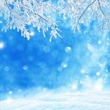 зима белизны снежинок предпосылки голубая