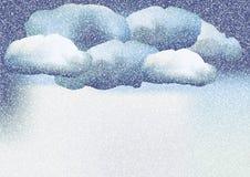 зима белизны снежинок предпосылки голубая иллюстрация вектора