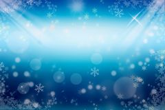 зима белизны снежинок предпосылки голубая Стоковые Фото