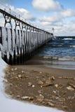 зима больших озер дома светлая Стоковые Фотографии RF