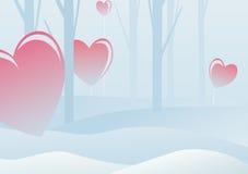 зима Валентайн пущи s дня иллюстрация штока