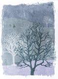 зима валов иллюстрации grunge иллюстрация вектора