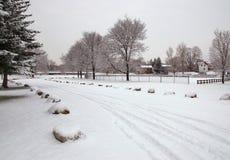 зима валов парка природы в январе заморозка дня снежная Стоковые Фотографии RF