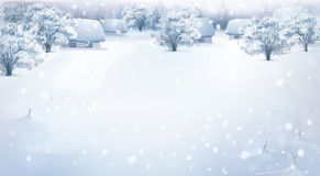 зима вектора ландшафта eps включенная Стоковое Фото
