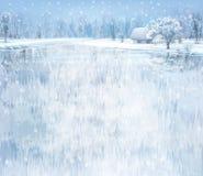 зима вектора ландшафта eps включенная Стоковая Фотография