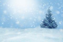 зима вектора иллюстрации предпосылки красивейшая Запачканный ландшафт зимы Стоковая Фотография RF