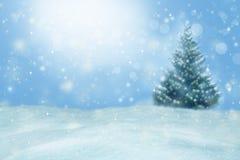 зима вектора иллюстрации предпосылки красивейшая Запачканный ландшафт зимы Стоковые Фотографии RF