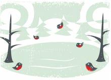 зима вектора карточки Стоковое фото RF