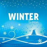 зима вектора снежинок иллюстрации предпосылки Стоковое Изображение