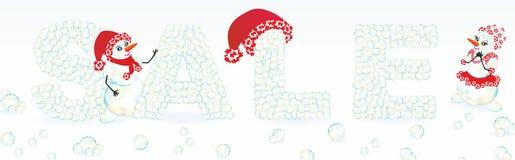 зима вектора текста сбывания предпосылки Стоковая Фотография RF