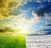 зима весны встречи Стоковая Фотография RF