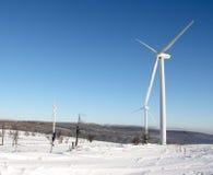 зима ветра турбины электричества Стоковые Фото
