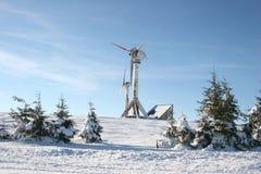зима ветра турбины Стоковые Фото