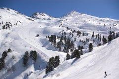 зима взгляда лыжи курорта Стоковые Фотографии RF