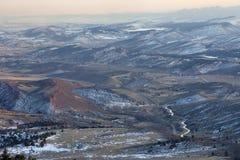 зима взгляда мглистых гор colorado утесистая Стоковые Изображения