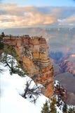 зима взгляда снежка панорамы каньона грандиозная Стоковые Фото