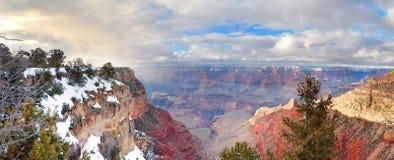 зима взгляда снежка панорамы каньона грандиозная Стоковое Изображение RF