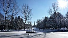 зима взгляда Украины солнца горы moloda Зима в парке София, Болгария Стоковая Фотография