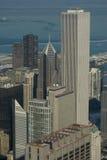 зима взгляда chicago ariel Стоковая Фотография