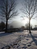зима взгляда Украины солнца горы moloda Стоковые Изображения