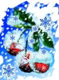 зима вишни Стоковые Фото
